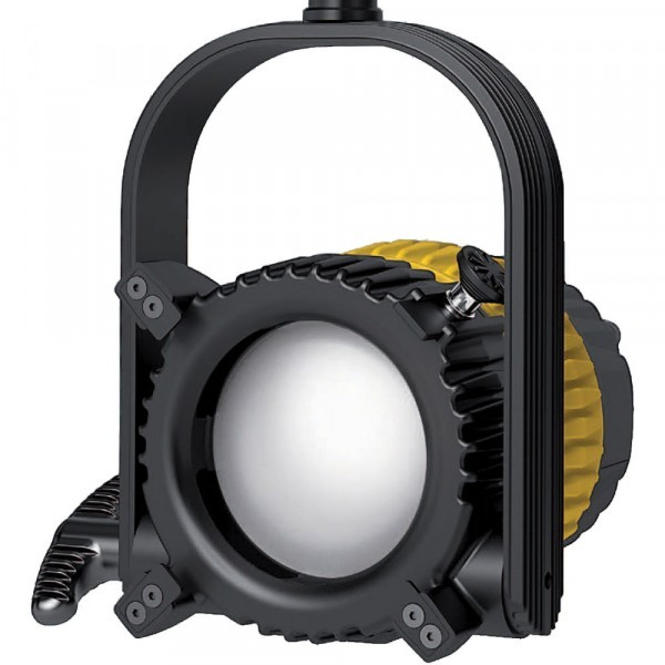 Dedolight SETDLED9-D-BAT-AB, DLED9 LED light head, daylight, DT9-BAT power supply, light shield ring
