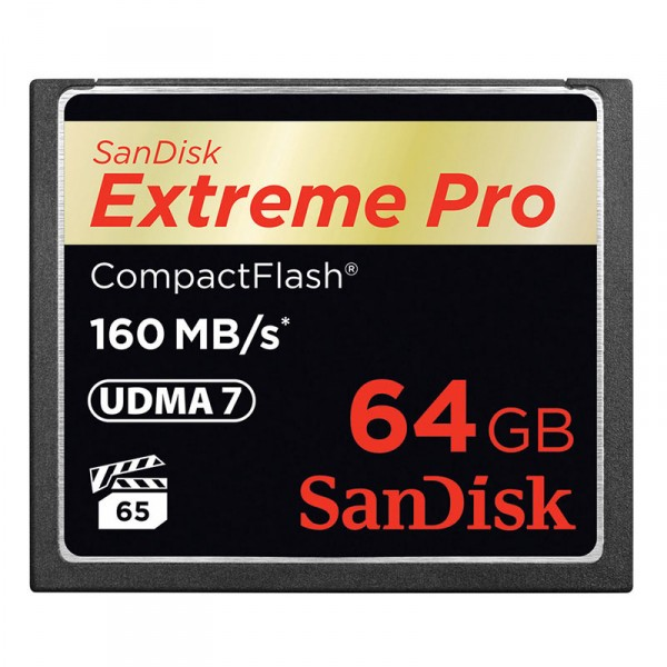 SanDisk Compact Flash Extreme Pro 64 GB, 160MB/s - 0