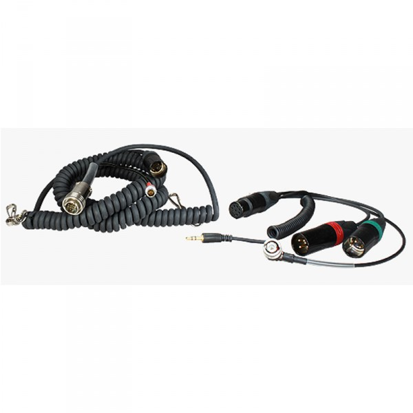 Spiral-Hinterbandkabel HBS664-10Y7-35 mit Timecode für Sound Devices 664 - 0