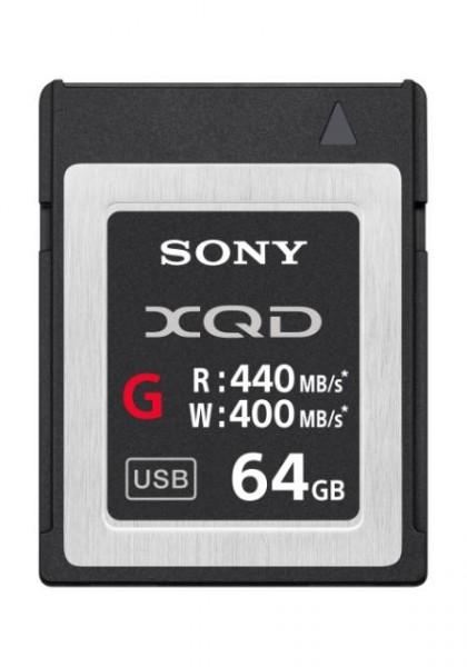 Sony QDG64E XQD Speicherkarte G-Serie, 64GB, bis zu 440MB/s Lese- und bis zu 400MB/s Schreibgeschwin