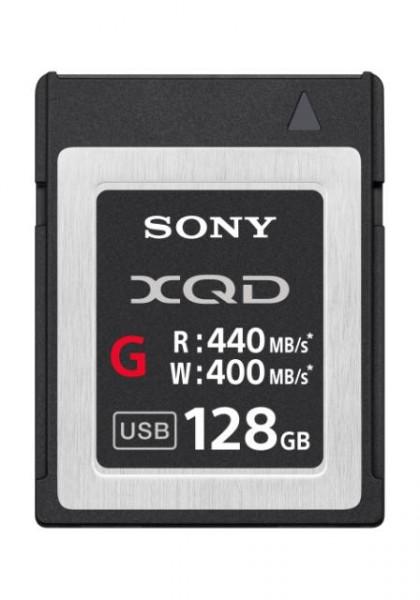 Sony QDG128E XQD Speicherkarte G-Serie, 128GB, bis zu 440MB/s Lese- und bis zu 400MB/s Schreibgeschwindigkeit