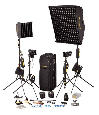 dedolight 4-Light kit with soft case DSC2/2-200 (230 / 240 V AC) SPS4 - 0