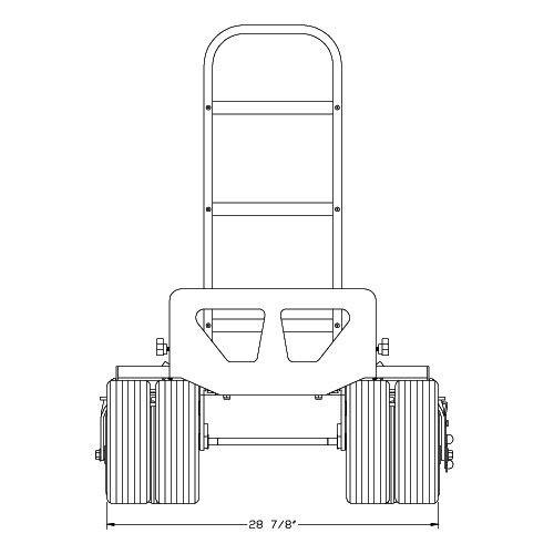 Magliner MAG-Y 34X X, Mag Quad Axle Kit