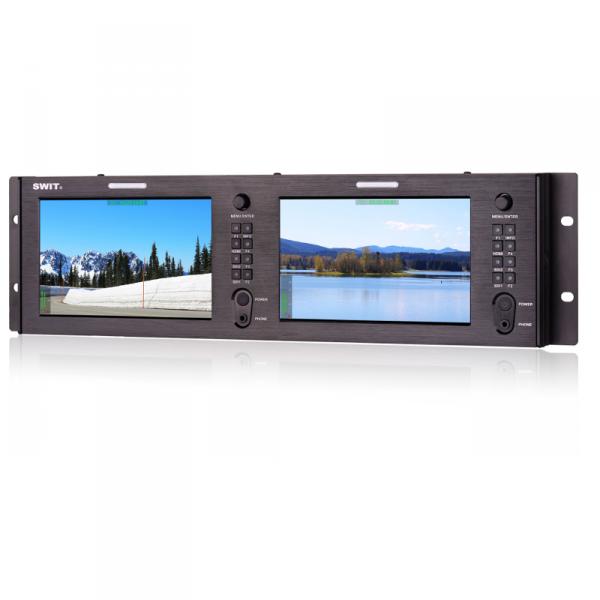 "SWIT M-1073H, 2x7"" Rackmount LCD Panel"