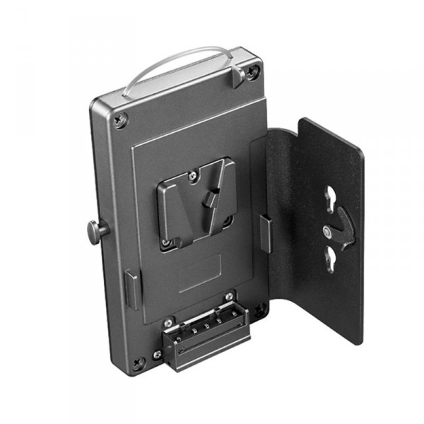 dedolight DLBCA2-V, V-Mount Adapter mit Gürtelclip und DC-Netzteil Halter