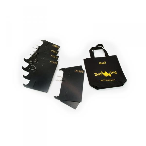 Kino Flo BAT-W4, BatWing 4Bank Louver (5pk)