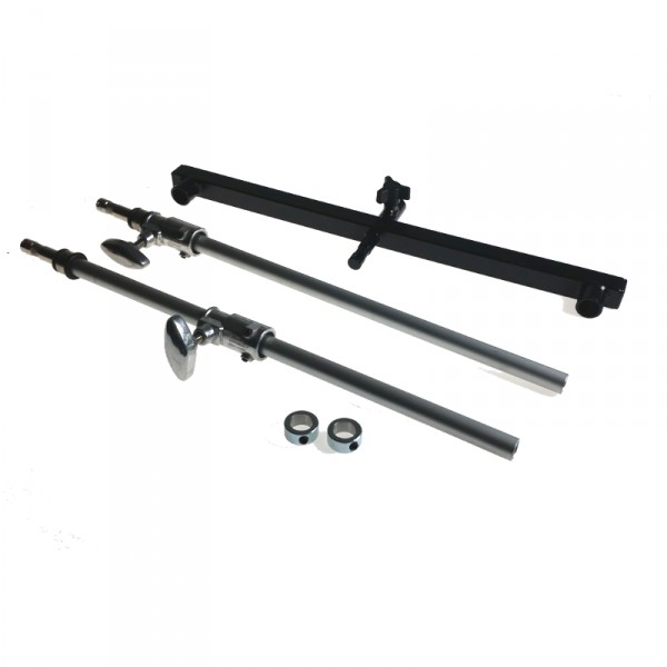 "Magliner Mag Flat Screen Vertical Dual Riser (Adj.) with 5/8"" Baby Pin (To be used with VESA Plate A - 0"