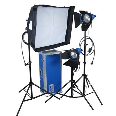 ARRILITE Kit Soft 750/3, Kofferset mit Rollen, 3 x plus 750, 3 x Stativ, Chimera Softbox - 0