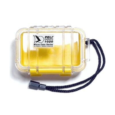 Peli Micro Case #1020 transp./gelb 13,5x9,0x4,3cm Innenmaß - 0