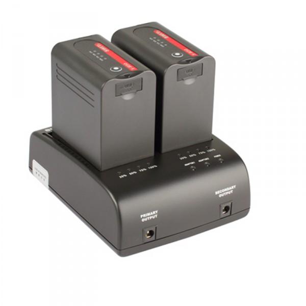 Swit S-3602I Doppelladegerät für JVC SSL Mount Akkus, mit Netzteilfunktion - 0