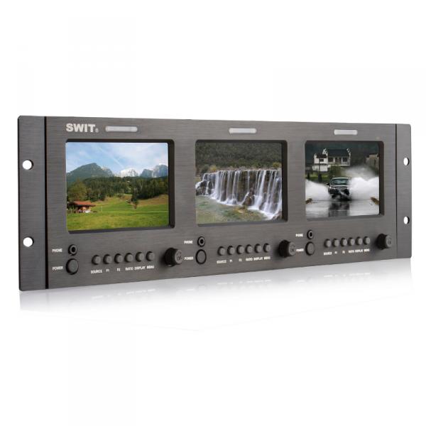 SWIT M-1051H, 3× 5-inch Rackmount FFS LCD Panel