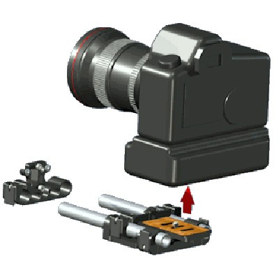 Vocas 0350-0310 Rail support for High DSLR - 0