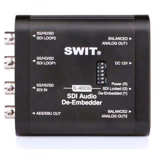 SWIT S-4609, SDI Audio DeEmbedder