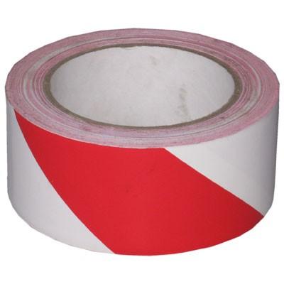 Gefahren-Markierungsklebeband Rot-Weiß - 0