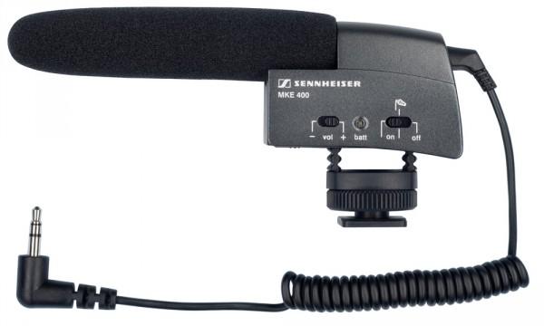 Sennheiser MKE 400 Kameramikrofon, Kondensator Superniere, 1x AAA, Blitzschuh, 3,5 mm Klinke