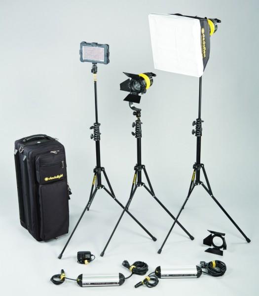 "dedolight DLED 4.1 Portable Studio / On-Board-Kit Fokussierbare LED Leuchte ""DLED4.1"" & LED Fläche - 0"