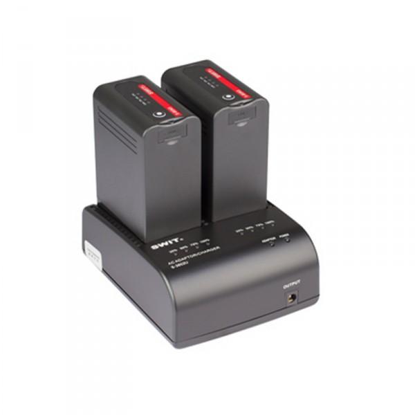 Swit S-3602U Doppellladegerät für Sony BP-U Mount Akkus, mit Netzteilfunktion - 0