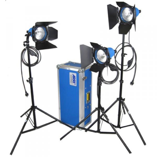 ARRI ARRILITE 750 Plus, 3 Tungsten Lighting Kit - with wheels (Schuko)    L0.36700.D - 0