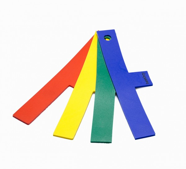 bestboy 711008, T-Marker, Set of 4 pieces, red-green-yellow-blue (22cm x 3cm)