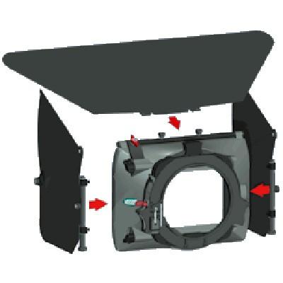 Vocas 0340-0001, Side flag kit for MB-2xx / MB-3xx Matte-Box - 0