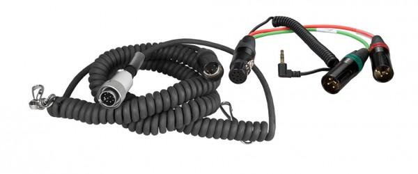 Spiral-Hinterbandkabel HBS10Y7-35W mit 7pol XLR/ Y-Kabel f SD 442/552