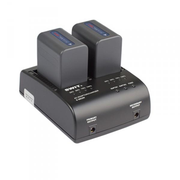 Swit S-3602M Doppelladegerät für Sony QM Mount Akkus, mit Netzteilfunktion - 0