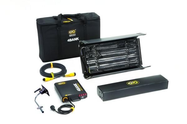 Kino Flo KIT-244B-230U, 2ft 4Bank Kit (1-Unit), Univ 230U w/ Soft Case