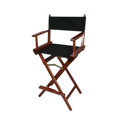 Regiestuhl, Director's High Chair - noce/ Bezug schwarz - 0