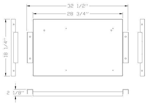 """Magliner 18"""" Middle Shelf (Aluminum) MAG-C MINI-M"""