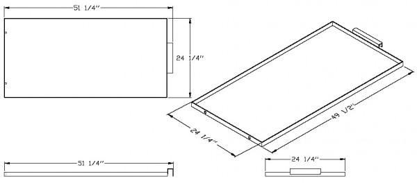 """Magliner Mag Senior 24"""" Bottom Shelf (Aluminum) MAG-DA SR"""