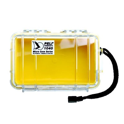 Peli Micro Case #1040 transp./gelb 16,5x9,8x4,4cm Innenmaß - 0