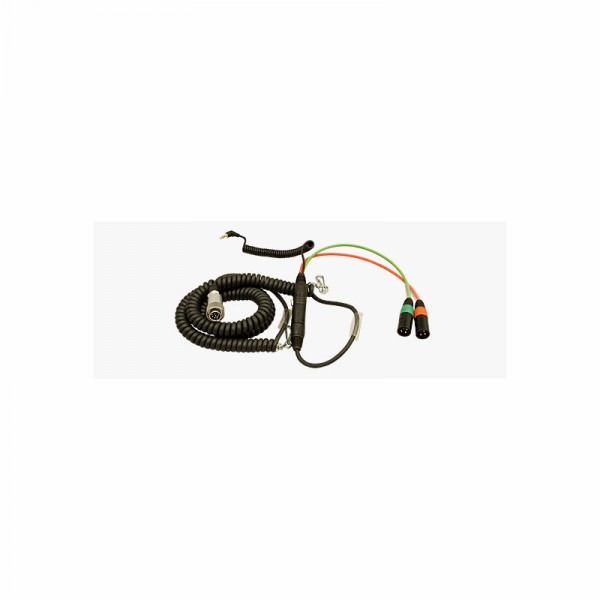Spiral-Hinterbandkabel HBS552Y7-35 f.Sound Devices 552 mit Timecode..... - 0