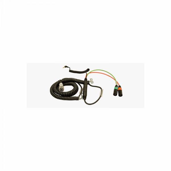 Spiral-Hinterbandkabel HBS552Y7-35 f.Sound Devices 552 mit Timecode..... - 0