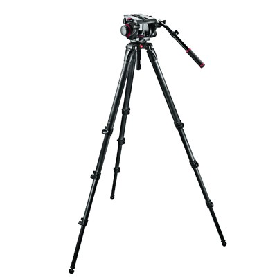 Manfrotto 509HD,536K Set: 509HD Neiger, 536 Stativ, MB MBAG100PN - 0