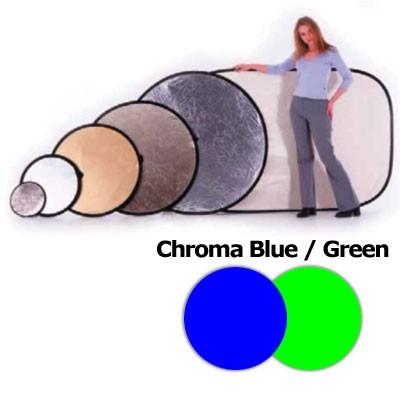 Lastolite LL LC5687 Chromakey Falthintergrund Doppelseitig Blau/Grün 150X180cm - 0