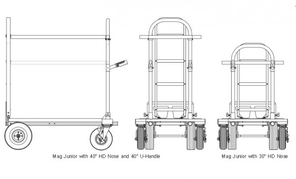 """Magliner MAG-N HD40, Mag 40"""" Heavy Duty Nose"""