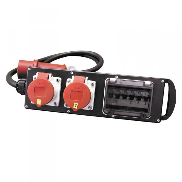 Titanex Vollgummi-Stromverteiler 15A/400V Abgang 3x Schuko 16A/230V - 0