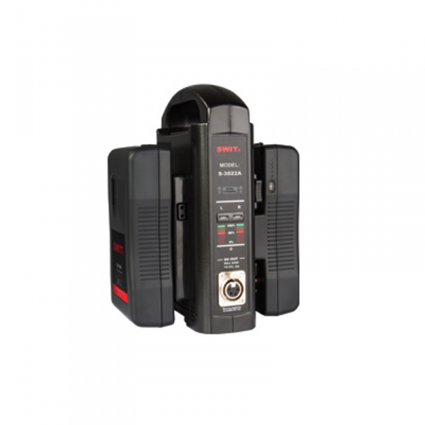 SWIT S-3822S, Dual Charger + DC out, 3A V-Mount