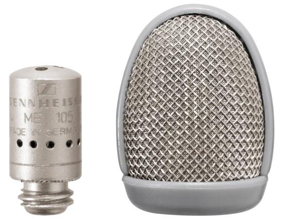 Sennheiser ME 105 NI Ansteckmikrofon, Mikrofonkapsel schraubbar, Superniere, nickel, inklusive Winds
