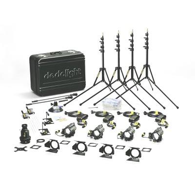 dedolight Standard 4 x 12 V / 100 W (DLH4) tungsten kit, 4 x DIMTA3 (230 V AC) KA1S    - 0