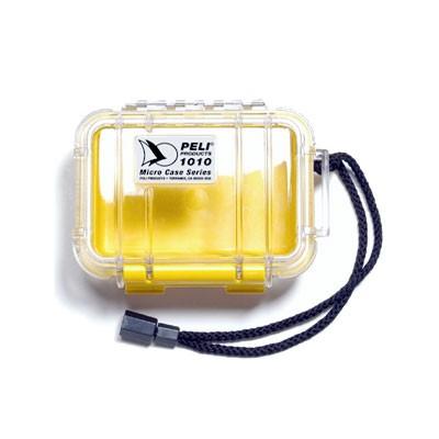 Peli Micro Case #1010 transp./gelb 11,1x7,3x4,3cm Innenmaß - 0