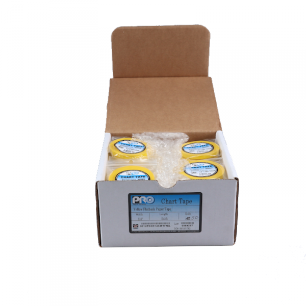 "50x PRO Yellow Flatback Paper Tape 1/4""x54ft, Abverkauf"